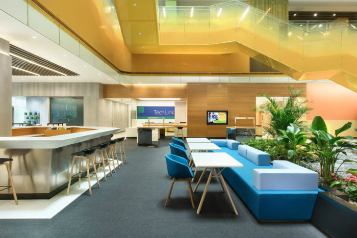 互联网公司总部办公室设计:微软苏州技术中心
