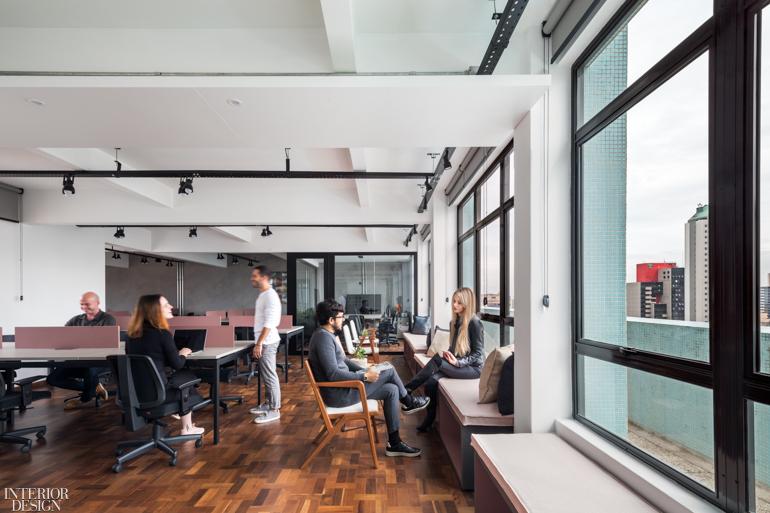 建筑设计公司办公室设计:巴西毕业生合作和交流经验的空间