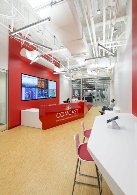 美国硅谷康卡斯特互联网公司办公室设计分享