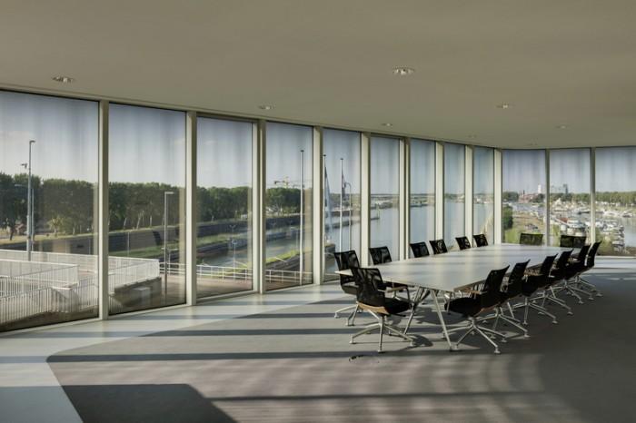 投融资公司总部现代极简风格办公室设计效果图