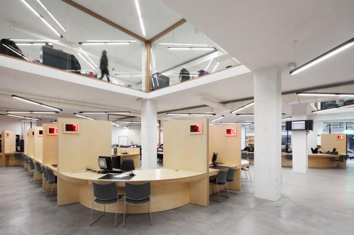 新媒体公司开放式办公室设计效果图
