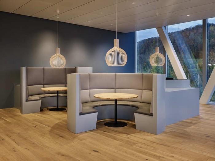 芯片公司办公室员工餐厅设计效果图
