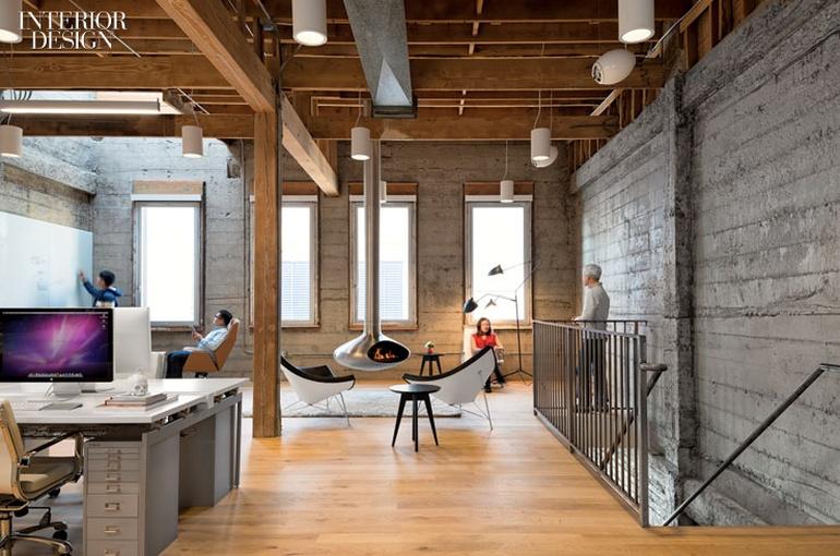 移动系统开发公司办公室设计:旧金山工厂改装