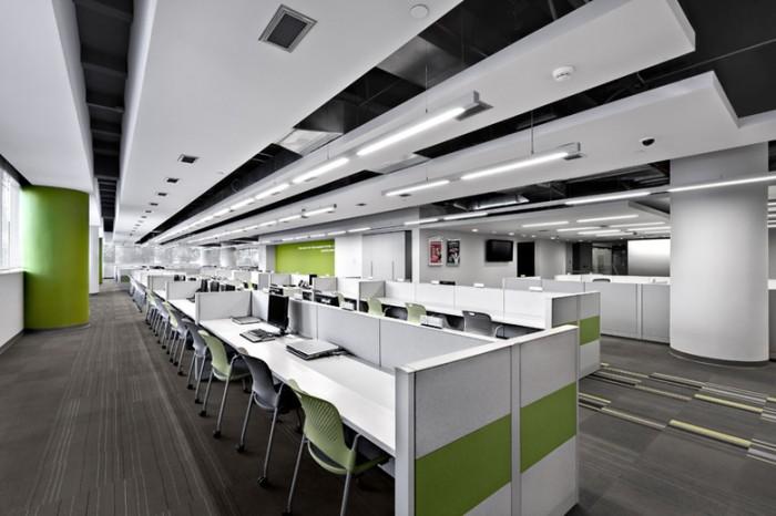 系统开发公司办公室空间设计效果图