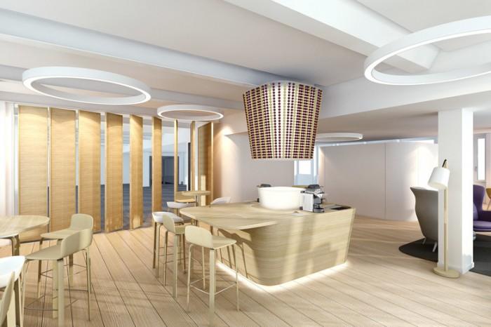 美国咖啡制造公司雀巢咖啡办公室设计效果图