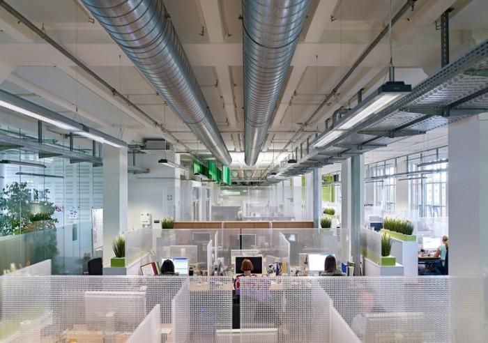 科隆保险公司清爽风格办公室设计效果图