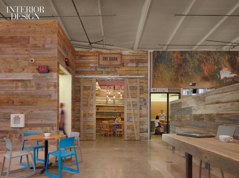 工业风格办公室设计:洛杉矶时尚饰品公司