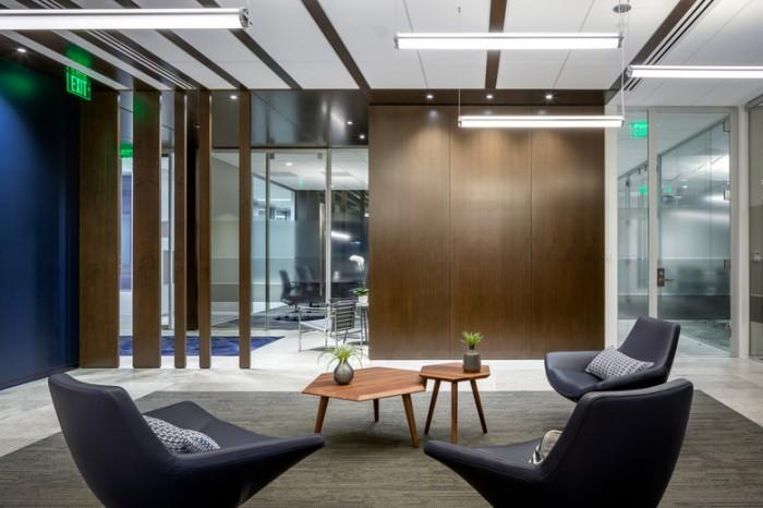 石油化工公司Fios总部现代轻奢风格办公室效果图