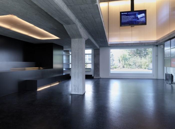 极简工业风办公室设计效果图:高科技媒体实验室