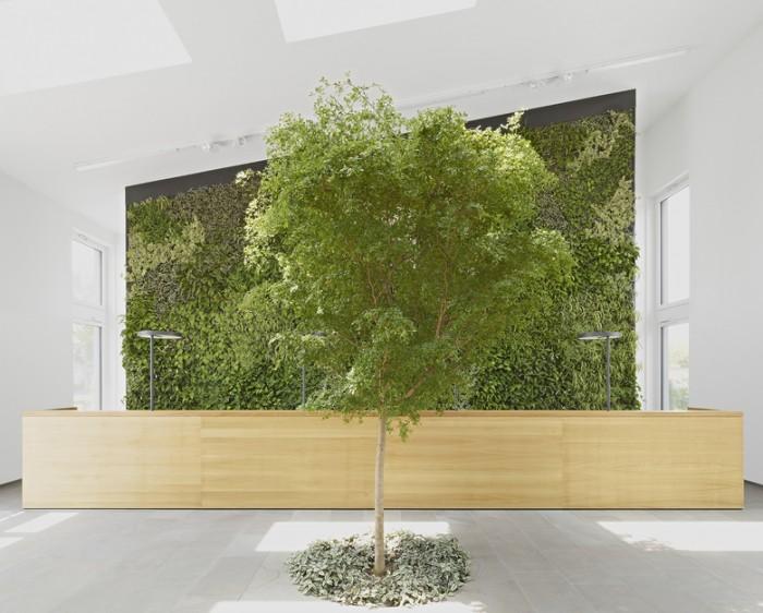 园林景观建筑公司总部办公室设计效果图