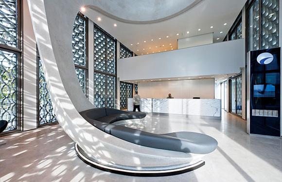 银行总部办公室设计:摩洛哥优雅的艺术氛围