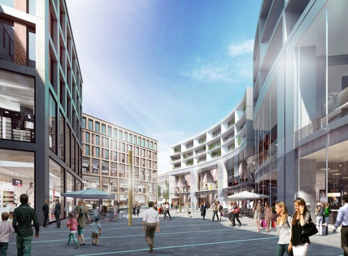 办公类型的综合商业广场设计效果图分享