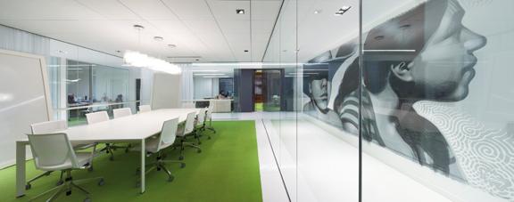 日化品销售公司办公室设计效果图