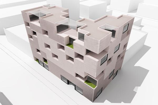 伊朗科技孵化器办公楼外观设计效果图