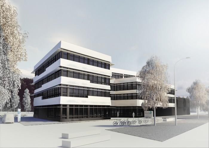 天然气公司办公大楼设计效果图