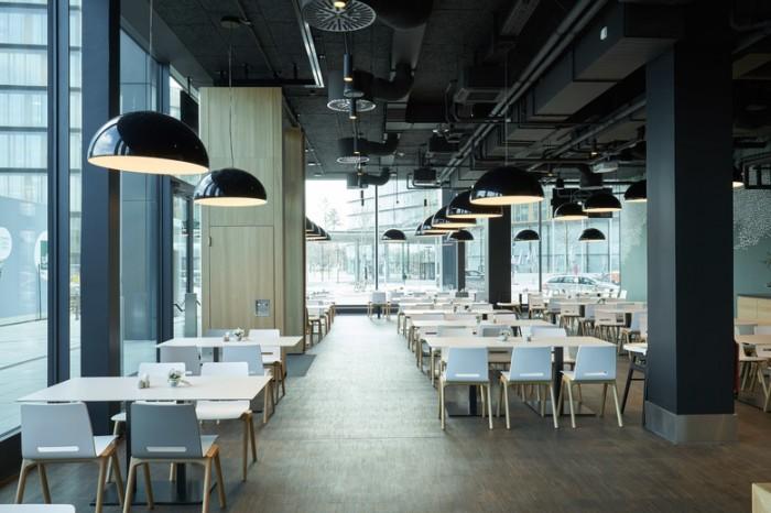 互联网公司办公就餐空间设计效果图