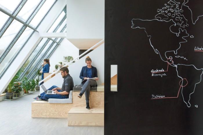 硅谷北欧风格互联网科技公司WFP办公室设计效果图