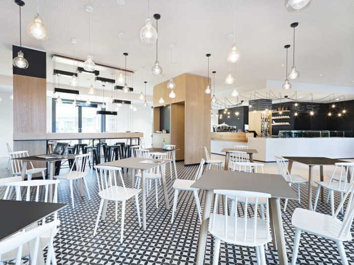 总部办公室咖啡吧空间设计效果图