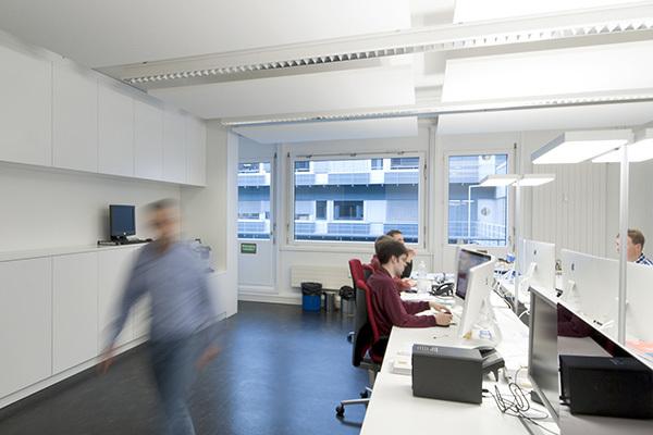科技园跨境电商公司极简风格办公室设计效果图