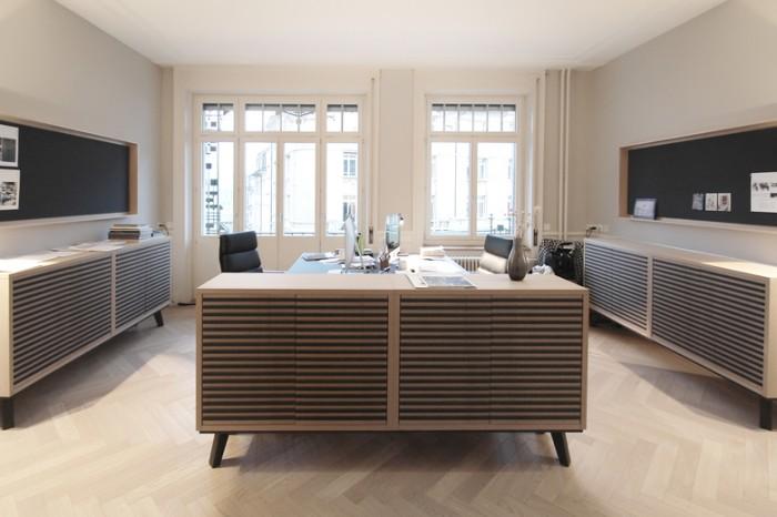 园林设计公司北欧风格办公室设计效果图